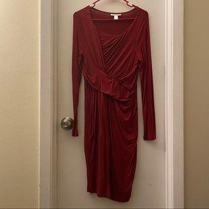 Motherhood Maternity Knee Length Long Sleeve Dress
